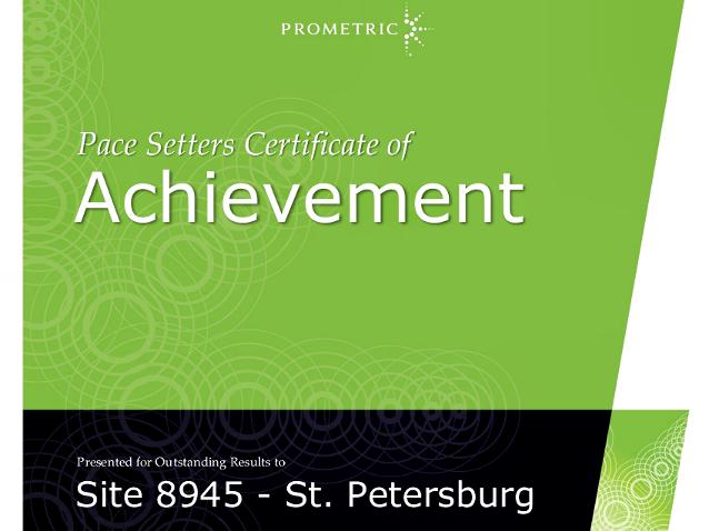 Награждение Высшей инженерной школы грамотой от компании Prometric